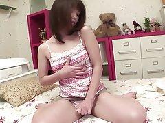 Brunette, Masturbation, Japanese