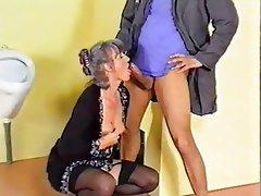Lingerie, MILF, Stockings, Granny