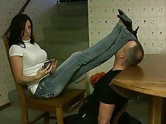Babe, Femdom, Foot Fetish, Stockings