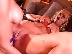Lesbian, Big Boobs, Blonde, Pantyhose