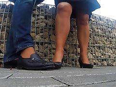 Fuß Fetisch, MILF, Strumpfhose, POV