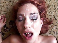 Bukkake, Výstřiky, Sperma v obličeji, Zrzky