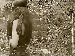 Anal, Brunette, Latex, Outdoor