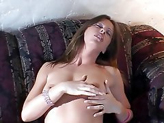 Masturbation, MILF, Brunette, Lingerie