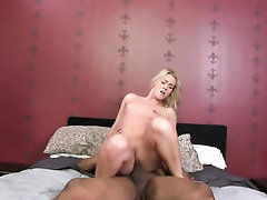 Creampie, Ebony, Hairy, Interracial