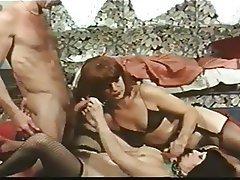 Group Sex, Hairy, Redhead, Stockings