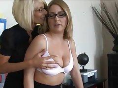Big Boobs, Blonde, Lesbian, Nerd
