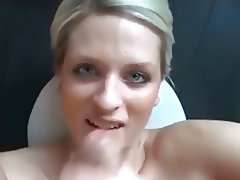 Blonde, Cumshot, Facial, POV