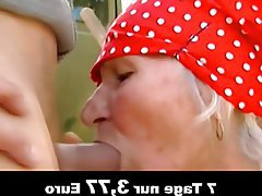 Old and Young, Amateur, Blowjob, German