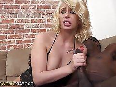 Blonde, Cuckold, Interracial, Small Tits