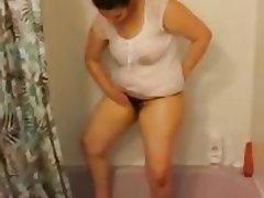 Lingerie, Nipples, Shower