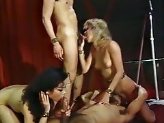 Blowjob, Cumshot, Group Sex, Stockings