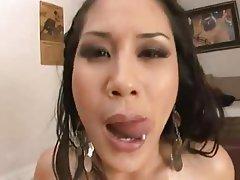 Asian, Big Boobs, Bukkake, Cumshot