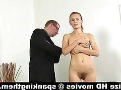 Russian, Secretary, Skinny, Spanking